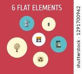 set of beverage icons flat... | Shutterstock .eps vector #1291700962