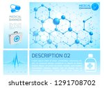 healthcare infographic blue... | Shutterstock .eps vector #1291708702