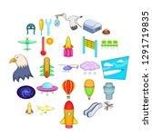 air navigation icons set.... | Shutterstock . vector #1291719835