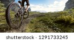 mountainbike in the mountains | Shutterstock . vector #1291733245