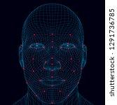 face recognition men. the...   Shutterstock .eps vector #1291736785