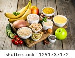selection of good carbohydrates ... | Shutterstock . vector #1291737172