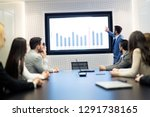 picture of business meeting in... | Shutterstock . vector #1291738165