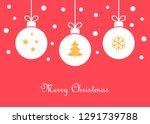 christmas balls ornaments... | Shutterstock .eps vector #1291739788