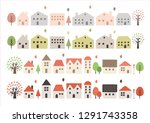 houses and trees    Shutterstock .eps vector #1291743358