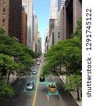 smart car  self driving mode... | Shutterstock . vector #1291745122