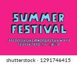 blue color alphabet 3d design.... | Shutterstock .eps vector #1291746415