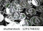 eos coins  blockchain concept.... | Shutterstock . vector #1291748332