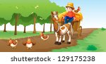 illustration of a farmer with... | Shutterstock .eps vector #129175238