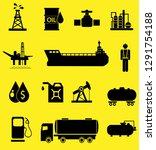 oil icon set  | Shutterstock . vector #1291754188