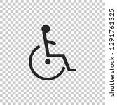 disabled handicap icon isolated ...   Shutterstock .eps vector #1291761325