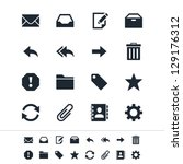 email icons   Shutterstock .eps vector #129176312