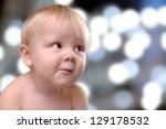 portrait of a happy toddler boy ... | Shutterstock . vector #129178532