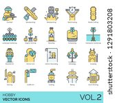 hobby icons including paintball ...   Shutterstock .eps vector #1291803208