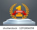 stage podium with lighting ... | Shutterstock .eps vector #1291806058