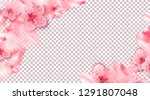 spring pink vector illustration ... | Shutterstock .eps vector #1291807048