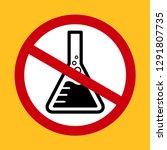 chemicals free symbol  danger...   Shutterstock .eps vector #1291807735