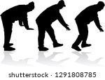 silhouette of a man. | Shutterstock .eps vector #1291808785