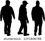silhouette of a man. | Shutterstock .eps vector #1291808788