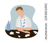office worker upset  vector... | Shutterstock .eps vector #1291811092