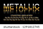 metallic gold font. vector... | Shutterstock .eps vector #1291812745