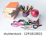 open the diary and colourful... | Shutterstock . vector #1291813822