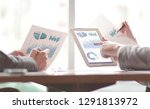 business team is discussing... | Shutterstock . vector #1291813972