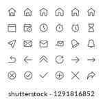 basic interface small line...   Shutterstock .eps vector #1291816852
