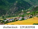 high altitude villages and... | Shutterstock . vector #1291820908