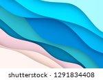 paper art cartoon abstract... | Shutterstock . vector #1291834408