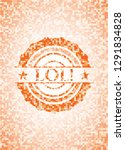 lol  abstract orange mosaic...   Shutterstock .eps vector #1291834828