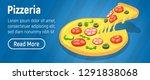 pizzeria concept banner.... | Shutterstock . vector #1291838068