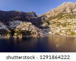 positano  italy. amalfi coast... | Shutterstock . vector #1291864222