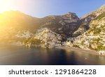 view of positano village along... | Shutterstock . vector #1291864228
