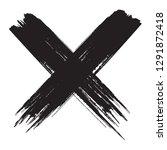 x.grunge x mark.dirty cross...   Shutterstock .eps vector #1291872418