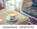 caramel macchiato hot coffee...   Shutterstock . vector #1291874752
