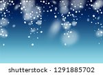 new year snow background.... | Shutterstock .eps vector #1291885702