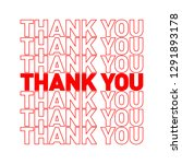 thank you  disposable plastic... | Shutterstock .eps vector #1291893178