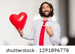 young crazy man valentine s day ...   Shutterstock . vector #1291896778