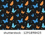 collection of butterfly... | Shutterstock .eps vector #1291898425