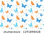 collection of butterfly... | Shutterstock .eps vector #1291898428