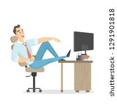 rest at work. businessman... | Shutterstock . vector #1291901818