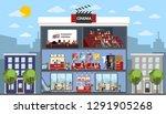 cinema city building interior... | Shutterstock . vector #1291905268