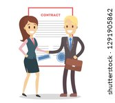 signing up contract.... | Shutterstock . vector #1291905862