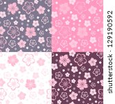 Set Of Four Seamless Patterns...