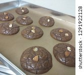 crinkle brownie cookies with... | Shutterstock . vector #1291922128