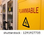 Close Up Black Flammable Sign...