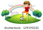illustration of a boy in a... | Shutterstock .eps vector #129193232