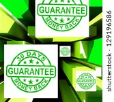 guarantee on cubes shows... | Shutterstock . vector #129196586