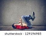 rapper lying on the floor | Shutterstock . vector #129196985